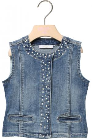 the latest 5d338 b5c6a Gilet jeans Liu Jo