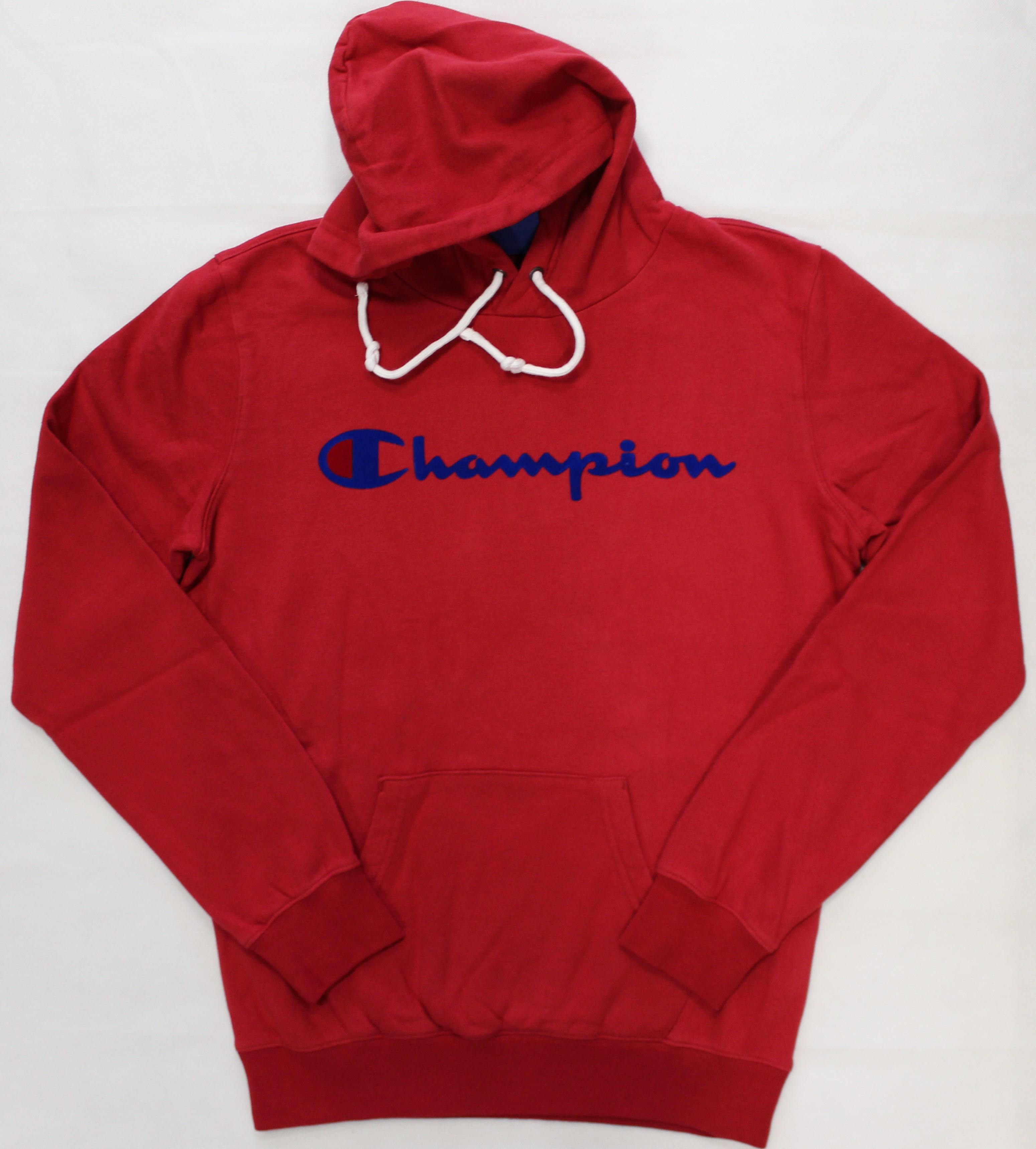 3d52748c5cc9f9 Felpa rossa cappuccio Champion • Minù — La Boutique