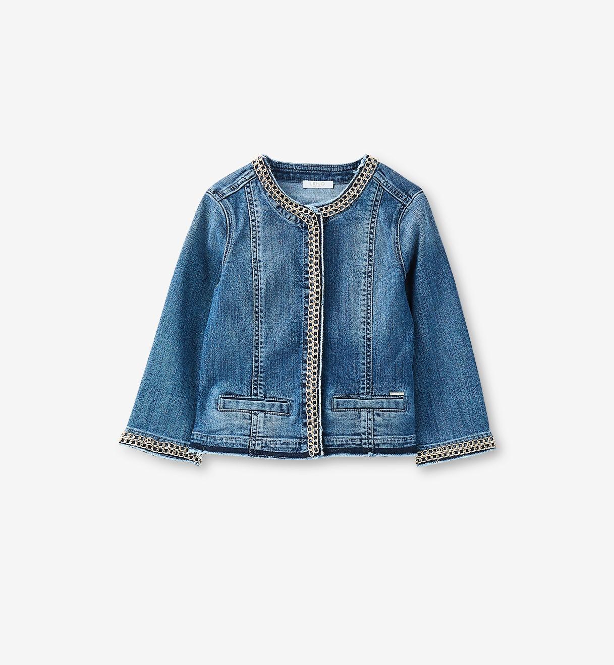 huge discount a1d2c e3186 Giacca jeans con catena gioiello Liu Jo